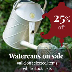 Watercans on sale - 25% off selected items - old style - vintage interior - retro - classic interior