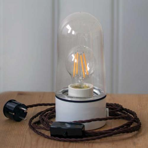 DIY - gör din egen bordslampa - sekelskiftesstil - gammaldags inredning - retro - klassisk stil