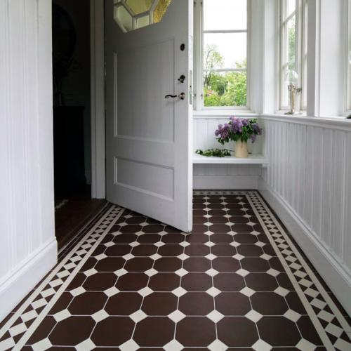 Floor tiles - 15 x 15 cm chocolate Winckelmans