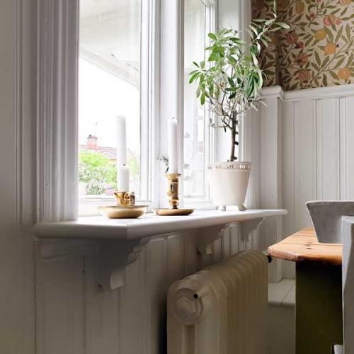 Inspiration - Fönsterbänk med träkonsol