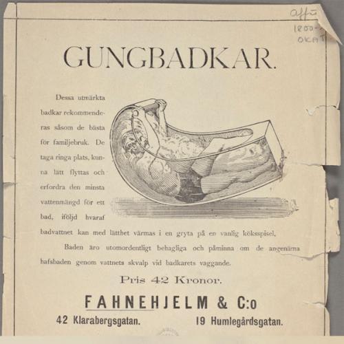 Gungbadkaret - genialisk uppfinning från 1901 - gammaldags stil - klassisk inredning - sekelskifte - retro
