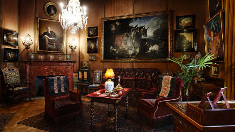 Tips & Facts - The  smoking room in Hallwyl's palace - old style - vintage style - classic interior - retro