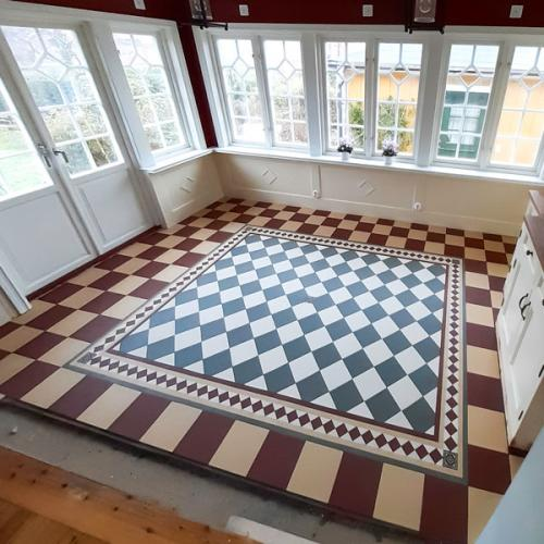Inspiration - Patterned tiled floor