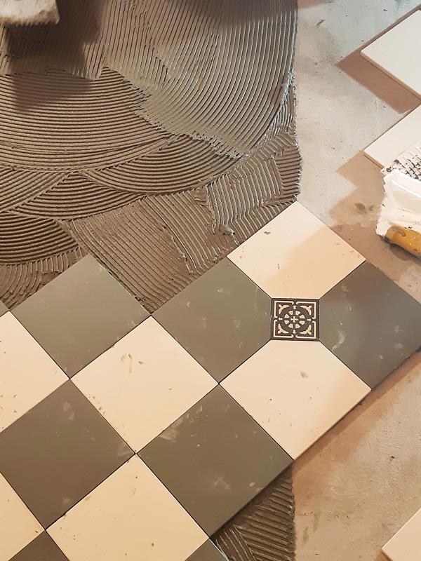 Inspiration - Mönstrat klinkergolv - gammaldags inredning - klassisk stil - retro - sekelskifte