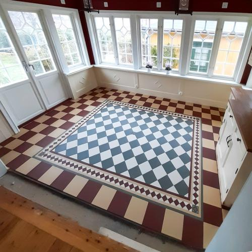 Inspiration - Patterned tiled floor