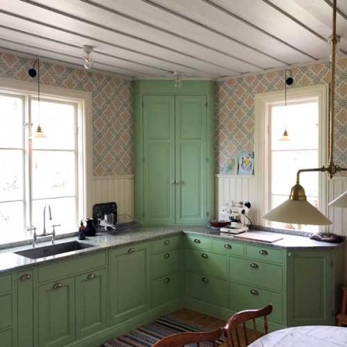 Inspiration - Kitchen lighting in old style