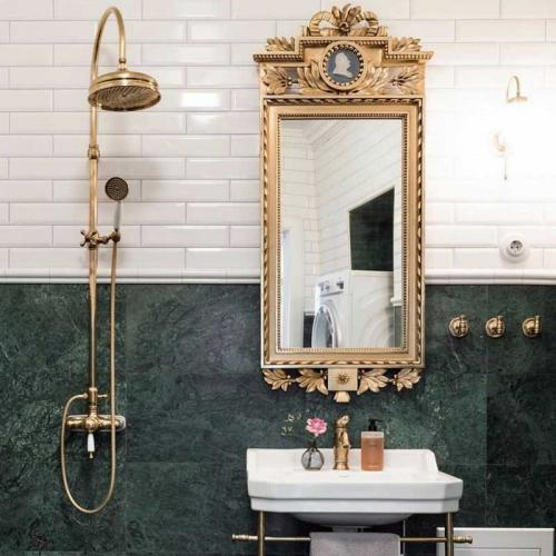 Inspiration - Brass and green marble