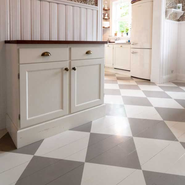Inspiration - Paint checkered floor