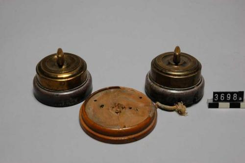 Historical Curiosity - Switches in brass & porcelain