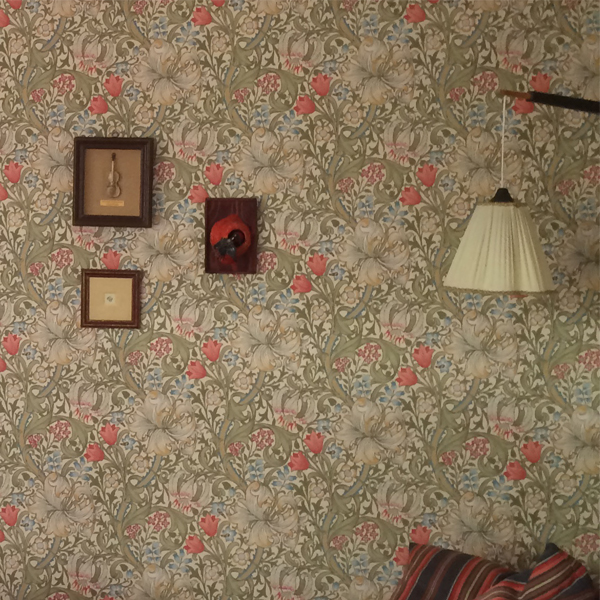 William Morris Co Wallpaper Golden Lily Green Red