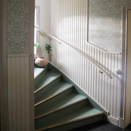 Inspiration - Staircase renovation with brass details