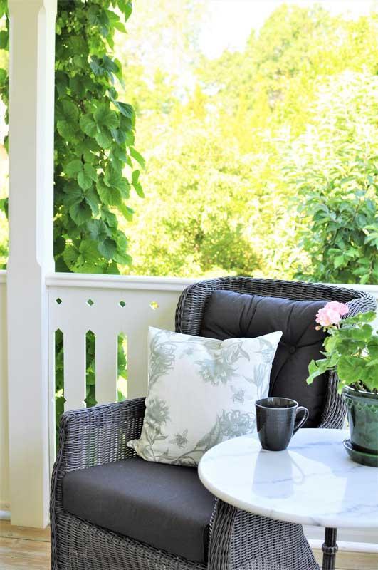 inspiration veranda - gammaldags inredning - klassisk stil - retro -sekelskifte