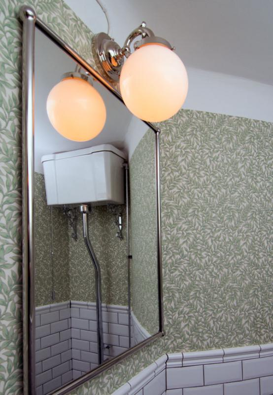 Renovated guest toilet - Bathroom lamp Topelius in old style