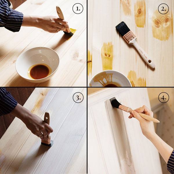 Info & Facts - Paint with linseed oil paint - step by step tutorial - old style - vintage interior - old fashioned style - classic interior