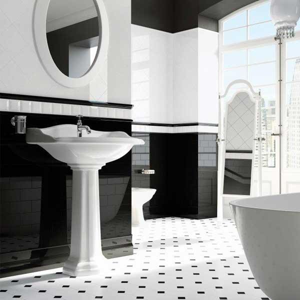 Bathroom Inspo In Black And White