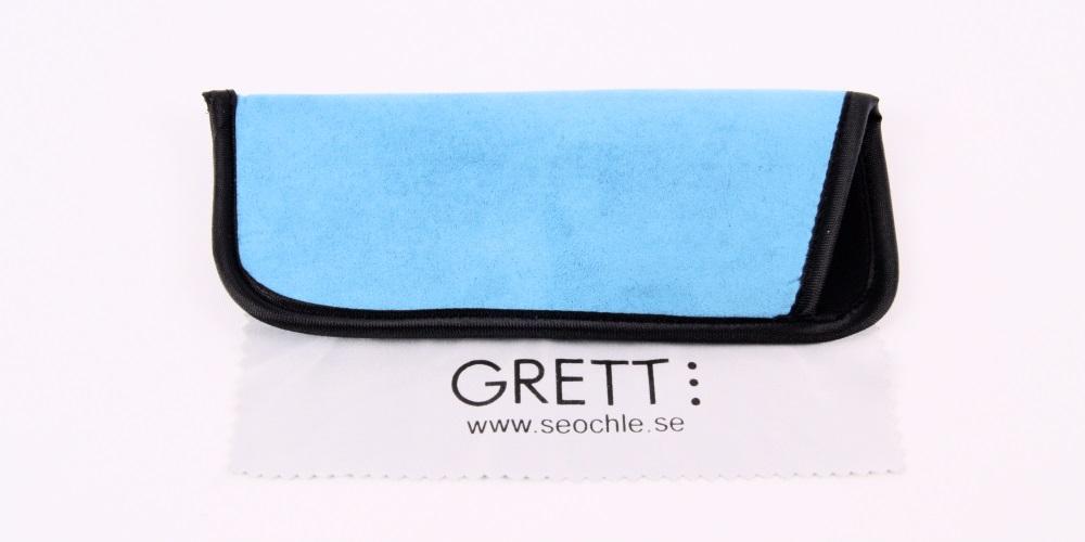 Holland - smäckra läsglasögon i ljusblått med fjäderskalmar  72fd277628cd8