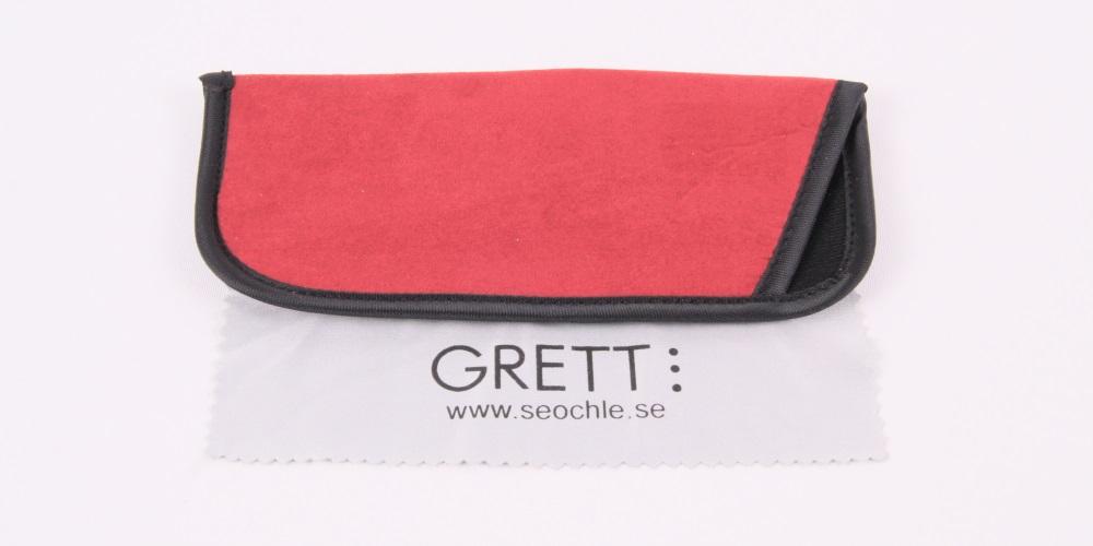 Holland - Röda och grå läsglasögon med fjäderskalmar  a66fbc27156f7