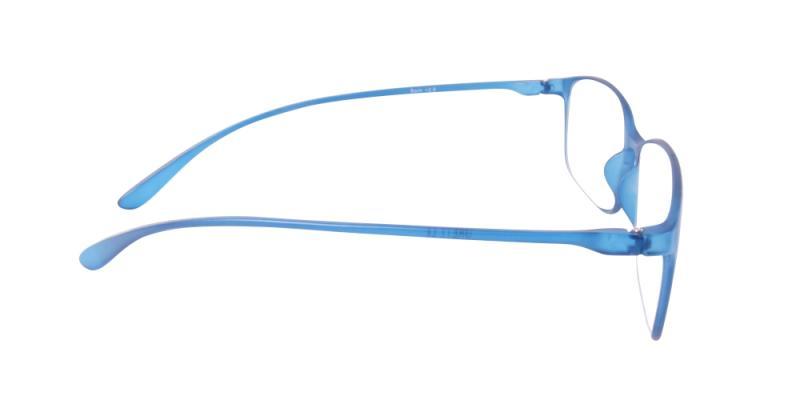 Läsglasögon - Bern i blått från sidan