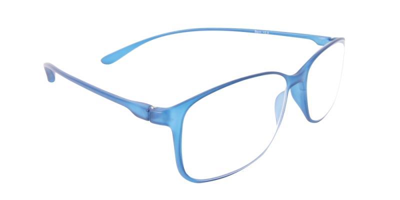 Läsglasögon - Bern i blått snett framifrån