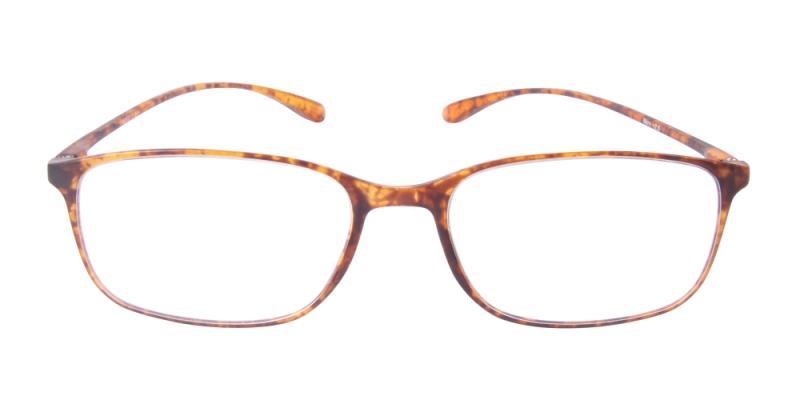 Läsglasögon - Bern i brunt framifrån