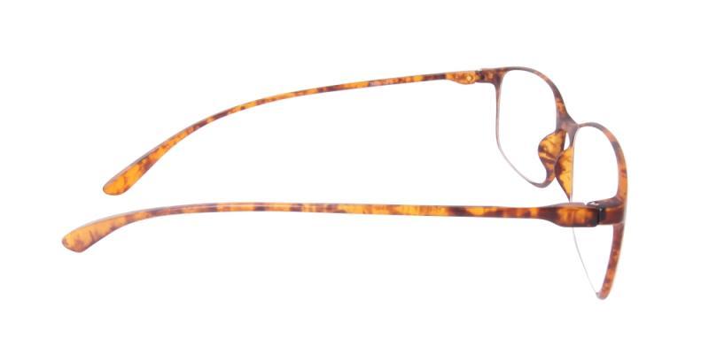 Läsglasögon - Bern i brunt från sidan