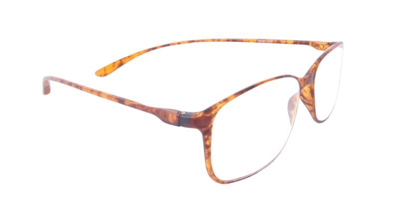 Läsglasögon - Bern i brunt snett framifrån