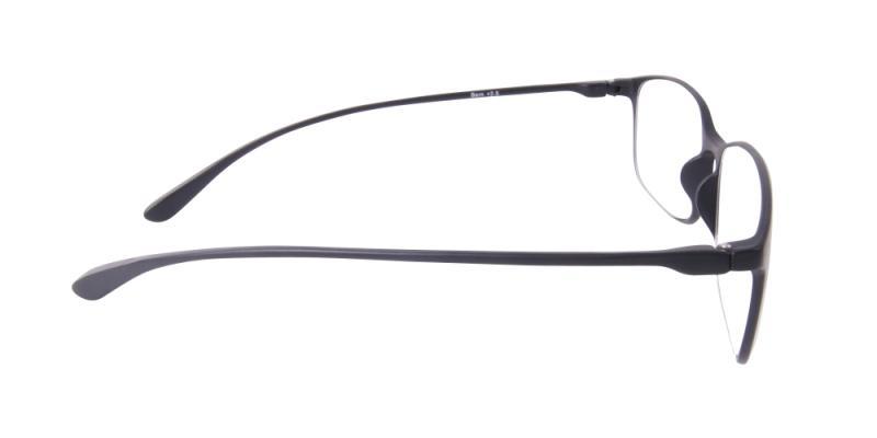 Läsglasögon - Bern i svart från sidan