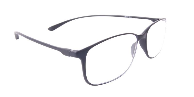 Läsglasögon - Bern i svart snett framifrån