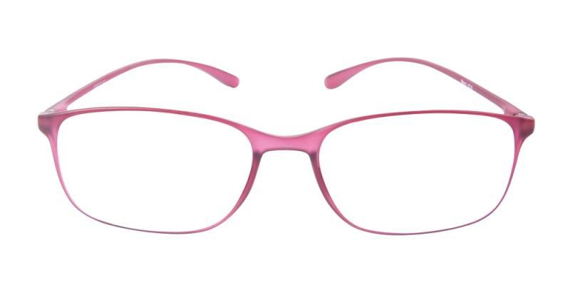 Läsglasögon - Bern i vinrött framifrån
