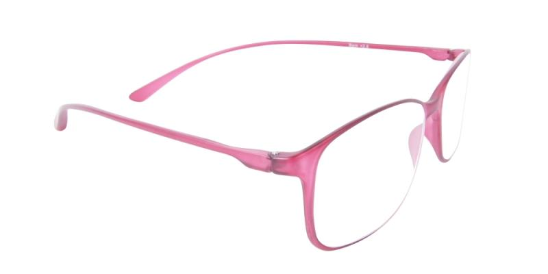 Läsglasögon - Bern i vinrött snett framifrån