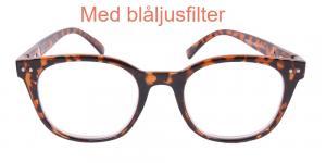 Bradford - sköldpaddsfärgade läsglasögon med blåljusfilter
