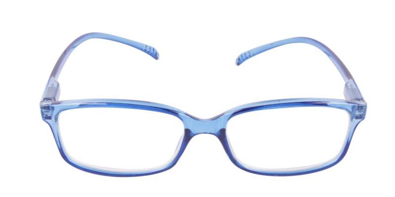 Brisbane - långa skalmar i transparent blå färg