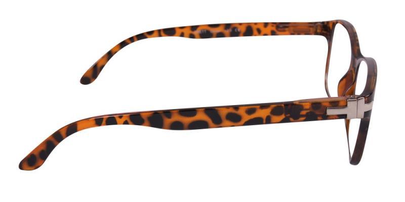 Dover läsglasögon i sköldpadda från sidan