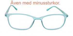 Holland - matta ljusblå genomskinliga läsglasögon