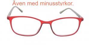 Holland - röda och grå läsglasögon i matt färg
