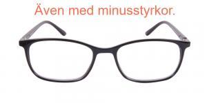 Holland - blanka läsglasögon i svart