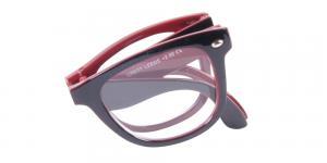 Leeds - vikbara svarta och röda läsglasögon