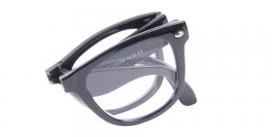 Leeds - vikbara läsglasögon i svart