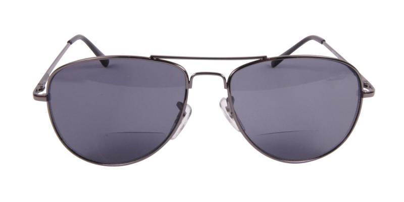 Solglasögon med läsruta i grått  framifrån