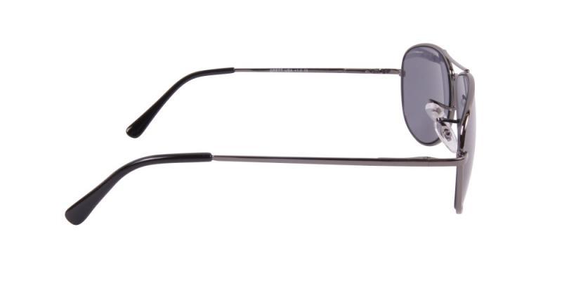 Solglasögon med läsruta i grått  från sidan