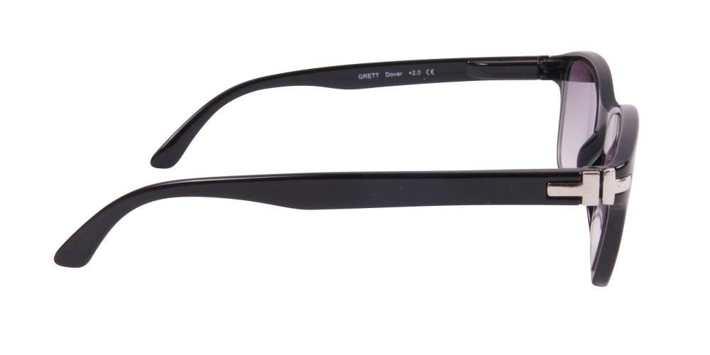 Läsglasögon med UVA och UV-skydd i svart  1c140f718fe25