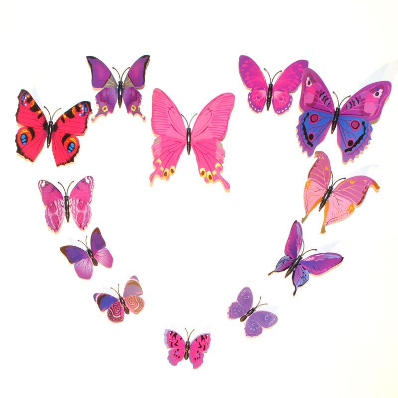Dekorativa lila fjärilar (modell 1)