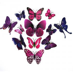 Dekorativa lila fjärilar (modell 2)