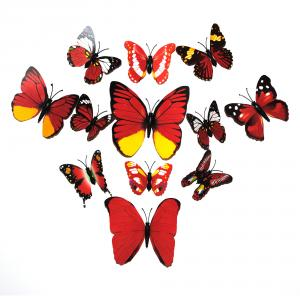 Dekorativa röda fjärilar (modell 2)
