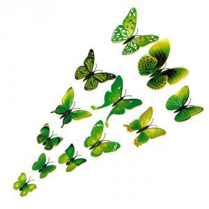 Dekorativa gröna fjärilar (modell 1)