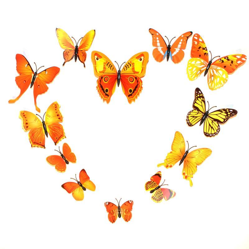 Dekorativa gula fjärilar (modell 1)