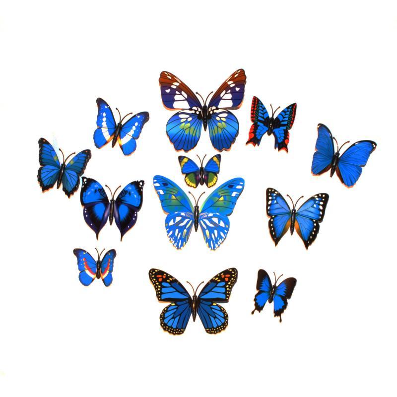 Dekorativa blå fjärilar (modell 1)
