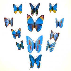 Dekorativa blå fjärilar (modell 2)