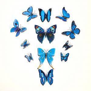 Dekorativa blå fjärilar (modell 3)