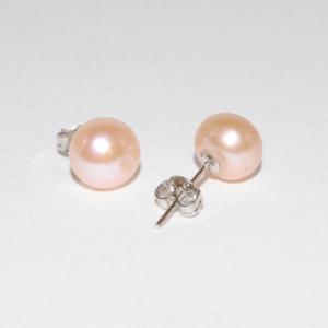 Pärlörhängen med rosa pärlor